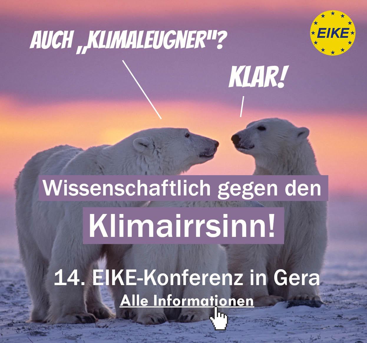 EIKE-Konferenz Wissenschaftlich gegen den Klimairrsinn!