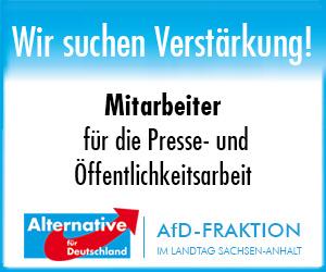 AfD Fraktion Sachsen-Anhalt Stellenanzeige